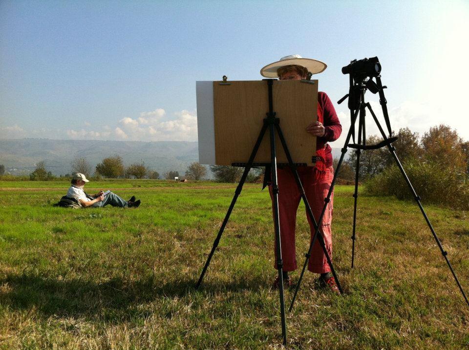 עדנה קרניאל ציור בטבע