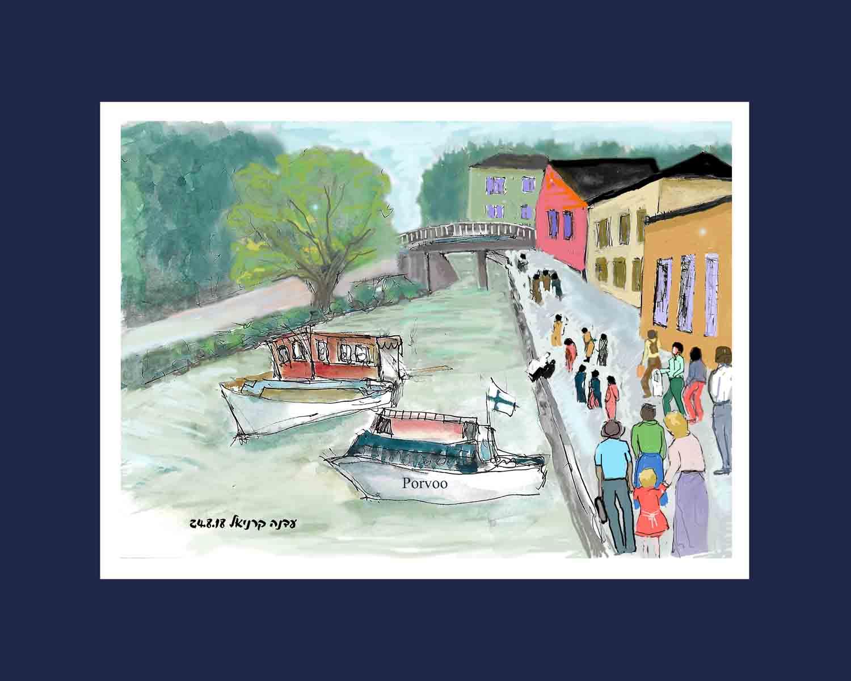 עדנה קרניאל -porvoo עיירה ציורית